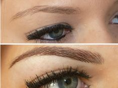 Permanent makeup eyebrows. I'm getting this done!! (Hair strokes)