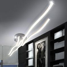 LED 44Watt Design Decken Wohnzimmer Leuchte IP20 Flur Lampe Wellen Licht ANGEBOT Shop Lighting, Track Lighting, Rose Gold Lamp, Kids Lamps, Large Lamps, Street Lamp, Design Your Home, Vintage Lamps, Living Room Lighting