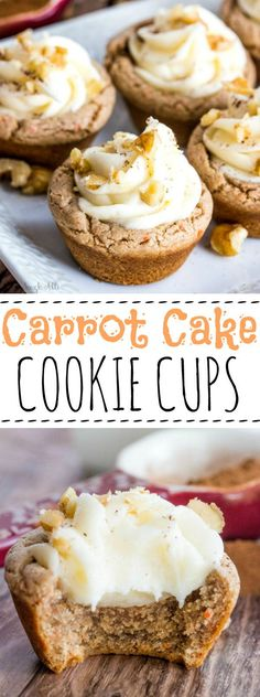Quick, easy and delicious theses Carrot Cake Cookie cups whip up in a flash and moist, soft, creamy and a perfectly hand-held treat!