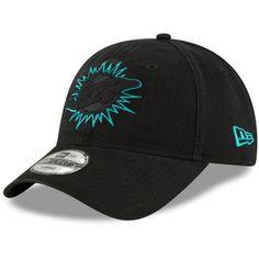 74dea576c180e Men s Miami Dolphins New Era Black Core Pop 49FORTY Fitted Hat