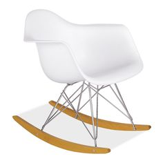 Eames® Molded Plastic Rocker with Maple Wood Base - Rockers & Gliders - Kids - Room & Board