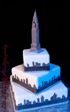 Bar Mitzvah cake by Capitale event space, NYC,  pastry chef. Ellen Wolff Photography.