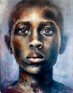 Art by Lone Malmgren Acrylic Portrait Painting, Acrylic Art, Lonely, Mona Lisa, Original Paintings, Face, Artwork, Instagram, Deep
