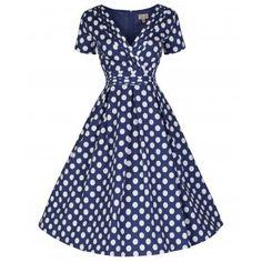 Darcy  Blue Polka Dot Party Dress Blue Polka Dots 9adc1aca72