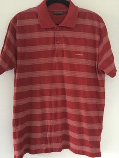 bd7fa7aafe17 Colorado mens polo shirt size L cotton collared red striped short sleeve  collar  Colorado Red