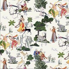 We love the colour and vibrancy of @lamaisonpierrefrey Diwali wallpaper , taken from 19th century wedding drawings #theworldofinteriors #pierrefrey #india #indianweddings #diwali #wallpaper #heritage #culture #travel #weddingdance #tradition #weddings #frenchdesign #instatravel #love #regram #homedecor #interiordesign