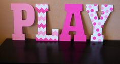 13 Playroom Sign in Pink and Chevron by LoveBbyCarrie on Etsy, $16.00