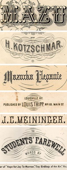 Excerpts from American sheet music,1850-1920