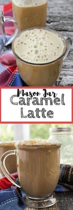 Mason Jar Caramel Latte | Leggings 'N' Lattes