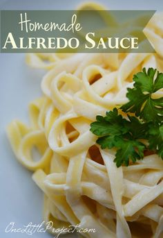 The BEST Homemade Alfredo Sauce Recipe.