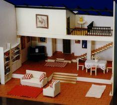 maqueta de casa tipo loft