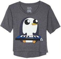 Adventure Time - Gunter T-shirt Adventure Time Clothes, Adventure Time Shirt, Adventure Time Gunter, Sweater Shirt, T Shirt, Nerd Love, Geek Fashion, Graphic Shirts, Cool Shirts