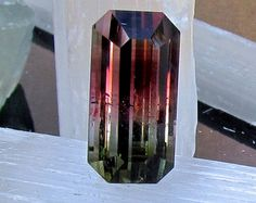 Bicolor Watermelon Tourmailne Emerald Cut Rare Large Fine Quality Loose Gemstone Over 10 Cts October Birthstone for Fine Jewelry Pendant