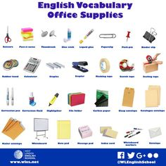 English Vocabulary For Office Supplies - It's always useful to keep expanding your vocabulary when you're learning English.