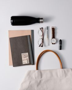 A simple canvas tote can fit all your uni essentials. Uni Essentials, Uni Bag, Canvas Tote Bags, Simple Designs, Classic Style, Stationery, Study, School, Fit