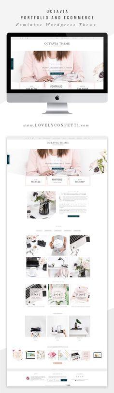 Octavianew feminine WordPress theme for creatives - Full Layout by Lovely Confetti