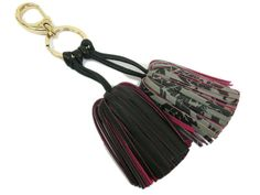 Loewe Carmen Uno dos Bag Charm Leather Black/Pink(BF063626). eLADY global offers free shipping worldwide.