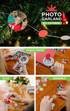 Deck out your tree or mantle this year with a festive holiday photo garland! Get the DIY tutorial: