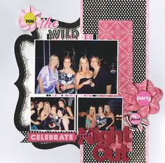 Girls Night Out Scrapbook Page