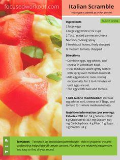Focus T25 Diet – Italian Scramble Recipe Healthy Breakfast Recipes, Healthy Recipes, Healthy Habits, T25 Meal Plan, Clean Eating, Healthy Eating, Healthy Food, Breakfast Time, Breakfast Buffet