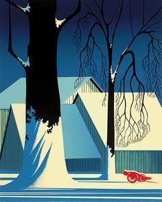 Eyvind Earle - Turquoise, 1983