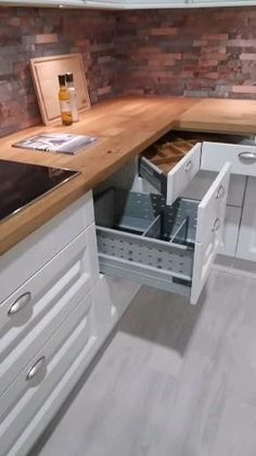 (paid link) Kitchen Storage & meting out - Shop Kitchen Storage & executive and more. We allow release delivery, in-store and curbside pick stirring for most items. #KitchenStorage Simple Kitchen Design, Kitchen Room Design, Home Room Design, Kitchen Cabinet Design, Kitchen Redo, Home Decor Kitchen, Interior Design Kitchen, Home Kitchens, Kitchen Remodel