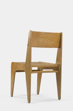 © Marcel Breuer. Desk chair. birch plywood, birch. from Bryn Mawr college, Pennsylvania. 1938. Auctioned by Wright auctions