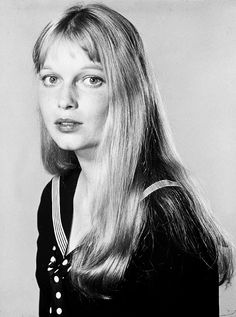 Mia Farrow for Peyton Place, 1964, and when she cut her hair off the whole world held their breathe, then she married a very much older Frank Sinatra, starred in the most frightening movie of the time, Rosemary's Baby...what a history all in 4 years.