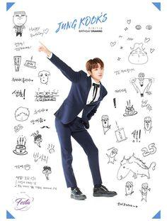 jungkook's birthday drawings