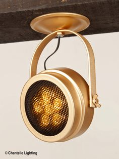 LED spotlight with an adjustable head and brass effect finish. Comes With honeycomb louver and can be supplied with either an amber filter or a clear filter.