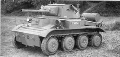 """Light Tank Mk VII """"Tetrarch"""" Front and left side of the CS variant, armed with a 76,2 mm (3 inch) howitzer #WorldWar2 #Tanks"""