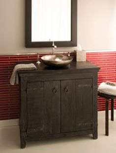 36 Inch Single Sink Bath Vanity in Rubbed Black