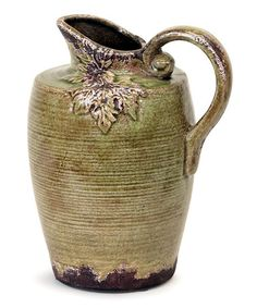 Green & Brown Leaf Pitcher by Autumn Beauty: Home Accents on #zulily today!