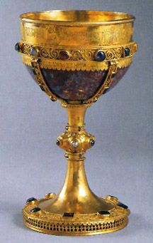 This silver and jasper chalice was crafted for Archbishop Moisey of Novgorod en 1329 진짜 성배 ㅋ