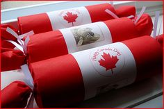 Loved holiday crackers as a kid--these look amazing: July 1st, Canada Day Party Crackers