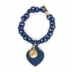 OPS!Objects OPSBR-15 Blue IPG armband Heart Charm, Objects, Pendant Necklace, Bracelets, Jewelry, Clock, Bracelet, Jewlery, Bijoux
