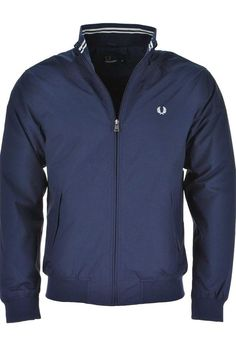 Fred Perry Brentham Jacket, Navy | McElhinneys Department Store