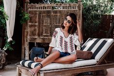 VivaLuxury - Fashion Blog by Annabelle Fleur: WEEKEND IN PALM SPRINGS - ULLA JOHNSON Ophelia top in natural | FREE PEOPLE Bandit denim cutoffs | OLIVER PEOPLES x ISABEL MARANT Daria sunglasses | CHLOE small Hudson bag studded cross body bag | AMINAH ABDUL JILLIL Love sandal | COORDINATES COLLECTION Legend engraved cuff & Legend ring March 5, 2016