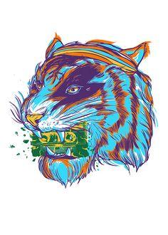Crunch tiger music by yeohghstudio on Etsy, $30.00