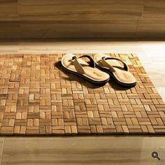 tile wood mat @HansgroheUSA #BathroomDreams