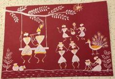 warli painting Radha Krishna