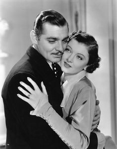 "moonwin: "" Clark Gable and Myrna Loy in ""Wife vs. Secretary"" (1936), directed by Clarence Brown and also starring Jean Harlow. """