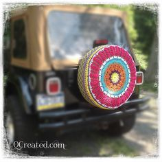 Crocheted Spare Tire Cover by QCreated on Etsy, $62.65