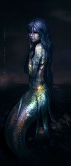 mermaid #fantasy #art. Artist unknown.If you are the artist or know them, please tell me so I can attribute the picture.