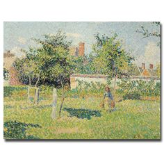 This ready to hang, gallery-wrapped art piece features a woman in a meadow. Camille Pissarro was one of the most influential members of the French Impressionist movement, not only as an artist but als