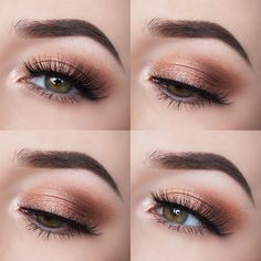 Smokey peach eyes that are perfect for the transition from Summer to Autumn makeup. Peach and orange tones are lovely colours to wear in the Summer months but they work equally as well for Autumn as t