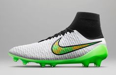 the best attitude 9f5e0 45870 The new Nike white 2015 Football Boots Pack combines the main color white  with striking colors to create a electric boot design.