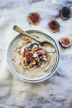 Start the day right - pear & honey amaranth porridge. Sprinkle on flaked almonds for an extra crunch