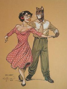 Blacksad et Alma - Flamenco by Juanjo Guarnido - Illustration