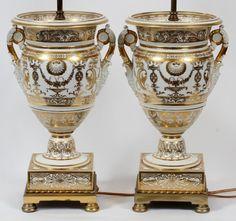 Old Paris porcelain fruit coolers